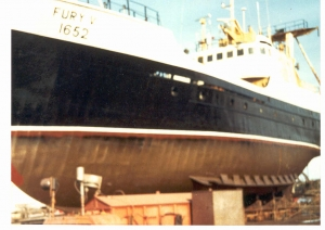"MV ""Fury V"" in dock"